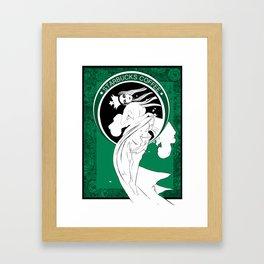 Starbucks Coffee Inspired Art Nouveau Framed Art Print