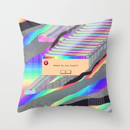 Error Tab Vaporwave Throw Pillow