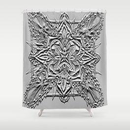 Divine Intention 6: Black & White Shower Curtain
