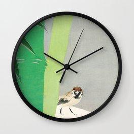 Kamisaka Sekka - Sparrow from Momoyogusa Wall Clock