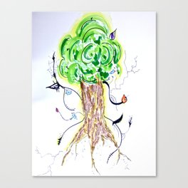 Liz Leaves the Nest Canvas Print