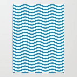 Wave Line Pattern Poster