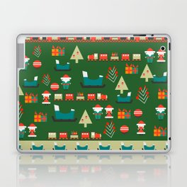 Santa's Christmas laboratory Laptop & iPad Skin
