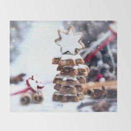 Christmas bakery Throw Blanket