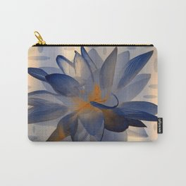 Midnight Blue Polka Dot Floral Abstract Carry-All Pouch