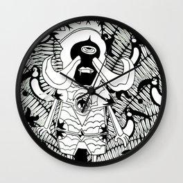 Prince Donster, Guardian of the Tropics (b/w) Wall Clock