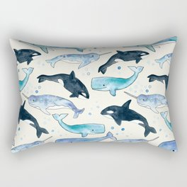 Whales, Orcas & Narwhals Rectangular Pillow