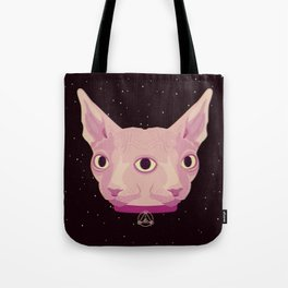 Two-Faced Sphynx From Outer Space Tote Bag