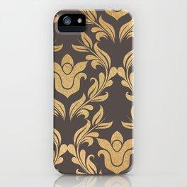 Gold swirls damask #6 iPhone Case