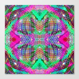 Green Fuchsia Kaleidoscope Canvas Print