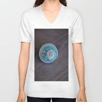 seashell V-neck T-shirts featuring Blue Seashell by Kelly Stiles