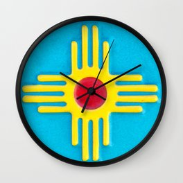 Zia Sun God  Wall Clock