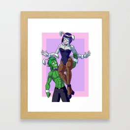 Raven and Bunny pt.2 Framed Art Print