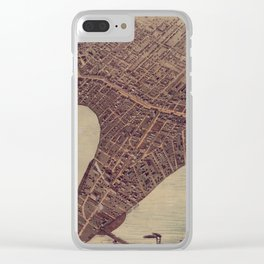 Vintage Pictorial Map of Winnipeg Canada (1884) Clear iPhone Case