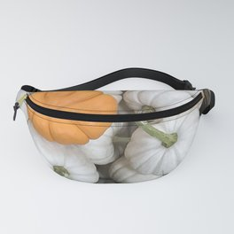 White Ghost Pumpkin and sneaky orange galore fall harvest sneaky orange   Fanny Pack
