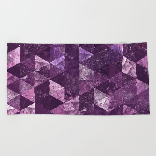 Abstract Geometric Background #10 Beach Towel