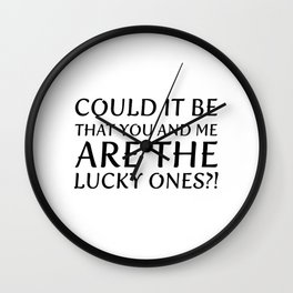 Lucky one Wall Clock