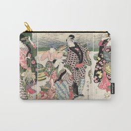 Fish market on the beach at Shiba, 1807 Carry-All Pouch