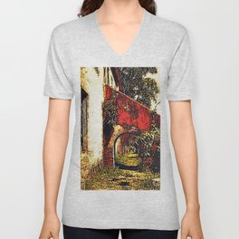 Under the stairwell - Florest Navarro de Andrade Unisex V-Neck