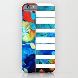 Colorful Piano Art by Sharon Cummings iPhone Case