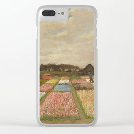 Classic Art - Flower Beds in Holland - Vincent van Gogh Clear iPhone Case