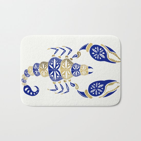 Scorpion – Navy & Gold Bath Mat