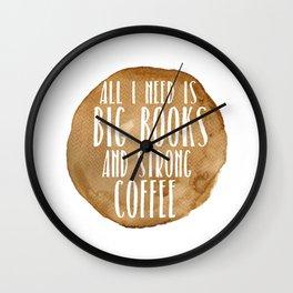 Big Books & Strong Coffee Wall Clock