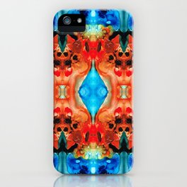Magic Mirror - Abstract Art By Sharon Cummings iPhone Case