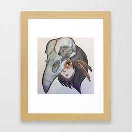 crow spirit animal Framed Art Print