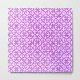 Trellis_Purple Metal Print