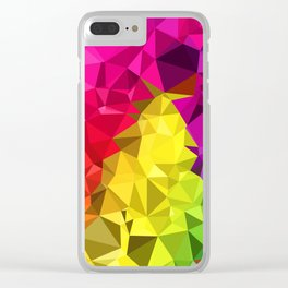 Rainbow Poly Low Clear iPhone Case