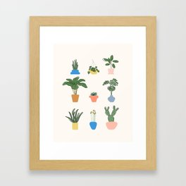 House Plants For Life Framed Art Print