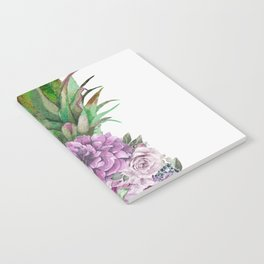 Floral Pineapple 1 Notebook