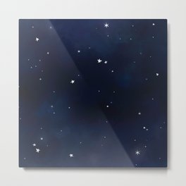 Watercolor Outer Space Metal Print