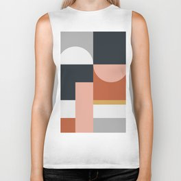 Abstract Geometric 09 Biker Tank