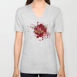 Australian Native Floral Splotch Unisex V-Neck