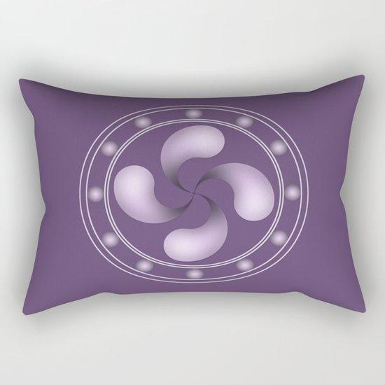 LAUBURU IN PURPLE (abstract geometric symbol) Rectangular Pillow