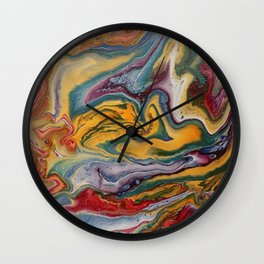 lava and water Wall Clock