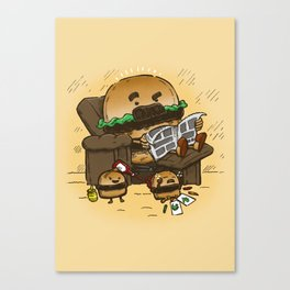 The Dad Burger Canvas Print