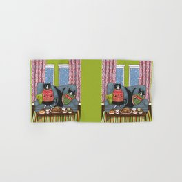 Holiday Couch Potato Cats Hand & Bath Towel