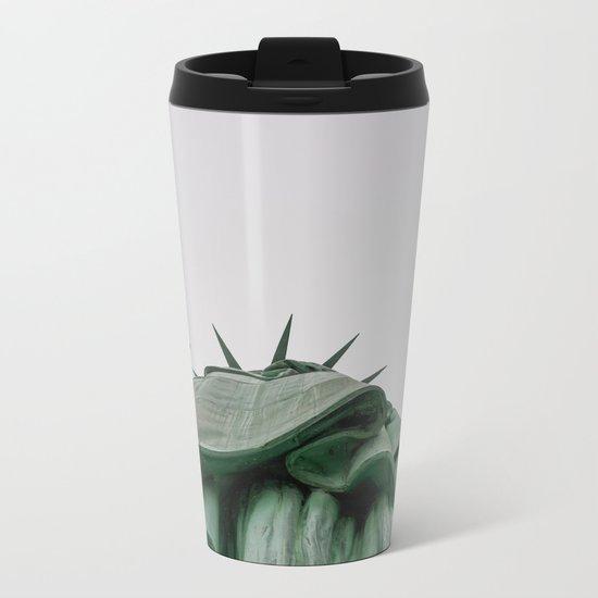 A Lady in green - NYC Metal Travel Mug
