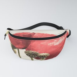 Poppies In Vase Fanny Pack