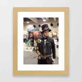Steampunk Abraham Lincoln Vampire Hunter Framed Art Print