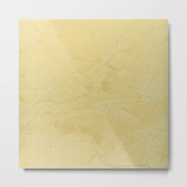 Tuscan Sun Stucco - Faux Finishes - Yellow Venetian Plaster Metal Print