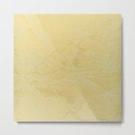 Tuscan Sun Stucco - Neutral Colors - Faux Finishes - Corbin Henry -Yellow Venetian Plaster Metal Print