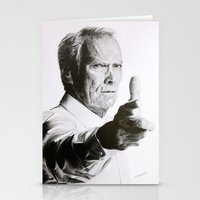 clint eastwood Stationery Cards featuring Clint Eastwood by Nathalief87