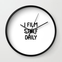 I Film Stuff Daily Movie Directors Film School Wall Clock