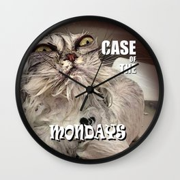 Case of the Mondays - CAT Wall Clock