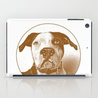 pit bull iPad Cases featuring Pit Bull by George Peters