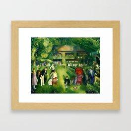 George Bellows - Tennis at Newport (new color edit) Framed Art Print